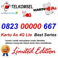 Telkomsel As 4G Lte 0823 00000 667 Kartu Perdana Nomor Cantik