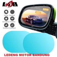 Anti Fog Nano Film Sticker Pelindung Kaca Spion Mobil Embun Air Hujan