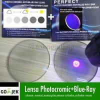 Lensa kacamata Photocromic blueray minus kombinasi silinder