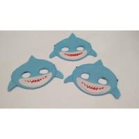 Topeng hewan laut topeng Hiu pesta ulang tahun topeng flanel kostum