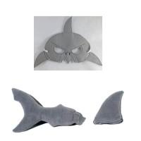Kostum hewan laut topeng Hiu pesta ulang tahun topeng flanel kostum