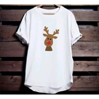 Kaos Natal Christmas Cute Rudolf tersedia size anak dan dewasa S-2XL