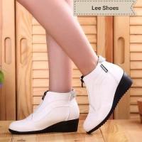 Wedges Boot Zipper Lee Shoes