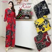 Baju Wanita Jumpsuit Dress Rose Busui Kancing Dalam