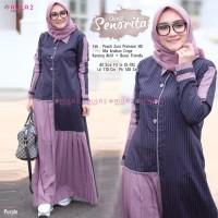 Baju Muslim Wanita Gamis Dress Senorita Purple Original
