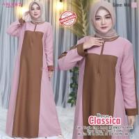 Baju Muslim Wanita Gamis Classica Salem Milo Original Busui Friendly