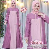 Baju Muslim Wanita Gamis Classica Purple Original Busui Friendly