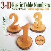 Table Numbers Nomer meja cafe rumah makan weddings 3D styles rustic