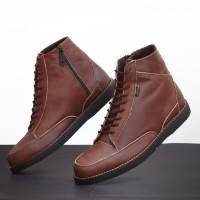 Sepatu Pria Boots Kulit Asli Model Casual Formal Pantofel CV212 Hitam