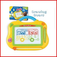 PAPAN TULIS menggambar drawing board warna warni anak - MAGIC DRAWING