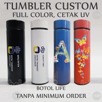 Tumbler Termos Promosi Custom Logo Nama Full Warna, Cetak UV, LIFE