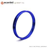 SCARLET RACING velek velg motor ring 17 160 WM shape Blue