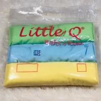 Bedong bayi Warna Polos Little Q 3 pcs