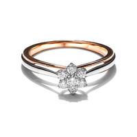 Lino and sons - Cincin Berlian F VVS (Sakura Two Tone Diamond ring) - Two Tone, 10
