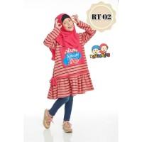 (1-12 tahun) RT 02 Tanpa Jilbab Baju Tunik Anak Raggakids Fanta Stripe
