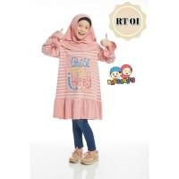 (1-12 tahun) RT 01 Tanpa Jilbab Baju Tunik Anak Raggakids Dusty Stripe