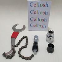Alat pembuka Crank dan sprocket gear 3 in 1 Repair Kit Rantai Sepeda
