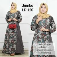Gamis Batik Kombinasi jumbo / gamis batik halus / Gamis batik modern