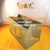 Paper Bag Coklat Tebal ( P x L x T : 32 x 18 x 20 CM )