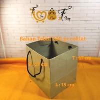 Paper Bag Coklat Tebal ( P x L x T : 17 x 15 x 17 CM )