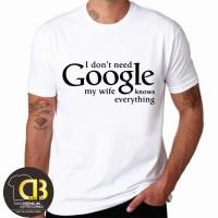 T-Shirt Kaos Baju Distro Premium Pria Wanita Google 054