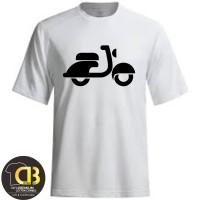 T-Shirt Kaos Baju Distro Premium Pria Wanita Scooter Vespa 53A