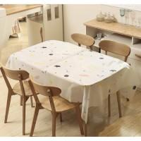 Taplak Meja Makan Tamu Bahan Plastik Anti Air Peva 822