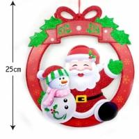 Gantungan Natal / Dekorasi Natal Krans Santa