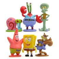 6Pcs Boneka Tangan Bentuk Spongebob Squarepants skuls Octopus Octopus
