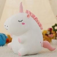Royal Boneka Unicorn Kartun Bahan Plush Lembut untuk Mainan Anak