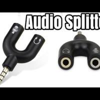 Deluxe Microphone Mic Clip On & Splitter U Shape 1 Paket