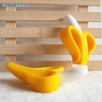 Teether Silikon Lembut Bentuk Pisang untuk Latihan Gigi