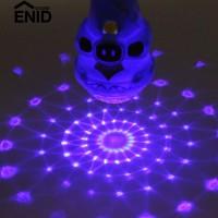 Enidstore Mini Mikrofon LED Proyeksi Flashing Berwarna-warni Mainan Fl
