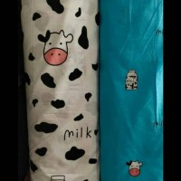Bedcover Motif Sapi Milky Cute Ukrn Single Bed Katun Catra