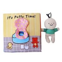 Mainan Buku Kain Kognitif 3D Lembut untuk Perkembangan Kognitif Bayi