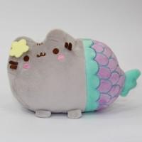 Boneka Pusheen Cat Mermaid Bahan Plush Lembut untuk Anak Perempuan Lak