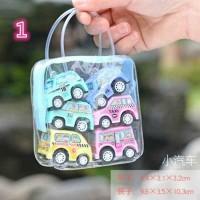 6Pcs Set Mainan Pull Back Mobil Truk Konstruksi Mini untuk Hadiah Anak