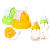 Tutup Botol Susu Minum Berleher Lebar dengan Sedotan untuk Bayi Anak