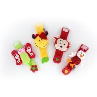 Mainan Kerincingan Genggam dengan Bahan Plush dan Gambar Kartun untuk