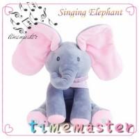 TMRPeekaboo Baby Mainan Boneka Plush Gajah Bernyanyi Singing Play Elep