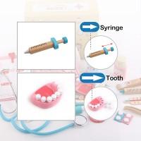 READY Set Peralatan Dokter Perawat Bahan Kayu untuk Bermain Peran