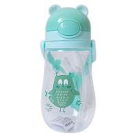 Botol Minum Desain Kartun Binatang dengan Tali Bahu untuk Anak Kecil 5