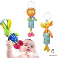 Mainan Bayi Boneka Rattle Binatang Plush untuk Tempat Tidur Bayi