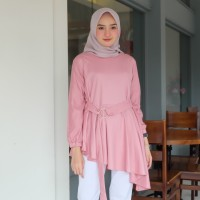 Tunik wanita Abella Dusty pink