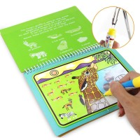 Reusable Coloring Magic Water Painting Book Kid Doodle Write Draw Boar