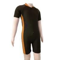 Baju Renang Diving Polos Anak TK Cowok Cewek M Hitam Orange
