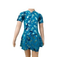 Baju Renang Diving Wanita Anak TK Rok M Motif 1