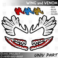 Sticker Decal Helm WING and VENOM For Universal Helm