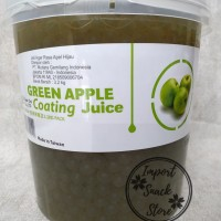 Topping Popping Boba Green Apple Coating Juice/Boba Green Apple Taiwan