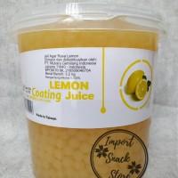 Topping Popping Boba Lemon Coating Juice / Boba Lemon Taiwan Drink